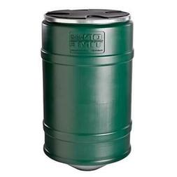 On Time Wildlife Feeders 00601 200 lbs Barrel - Black