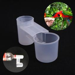 1/10Pcs Plastic Pet Bird Drinker Feeder Water Bottle Cup For