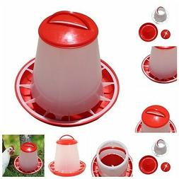 1.5kg Red Plastic Feeder Chicken Hen Poultry Drinkers Watere