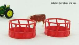 3D TO SCALE 1/64 SCALE HAY FEEDER - 2 PACK RED MODEL   BN  