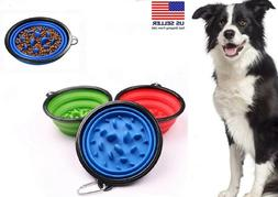 1 collapsible pet dog cat interactive slow