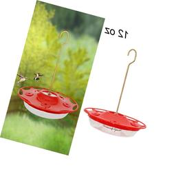 Juegoal 12 oz Hanging Hummingbird Feeder with 5 feeding port