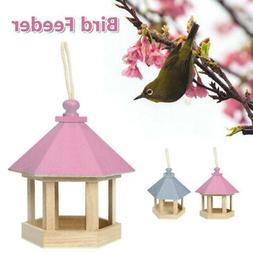 Decorative Hanging Wooden Gazebo Wild Bird Feeder Garden Tre