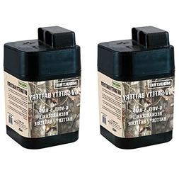 2 MOULTRIE 6 Volt Rechargeable Safety Batteries for Automati