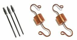2 Copper Hummingbird Feeder Ant Guards by Tip-Top Garden Sup
