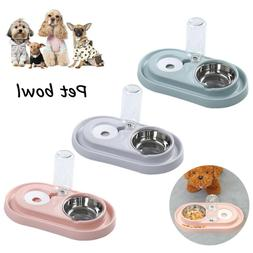2 in 1 Automatic Pet Food Drink Dispenser Dog Cat Feeder Wat