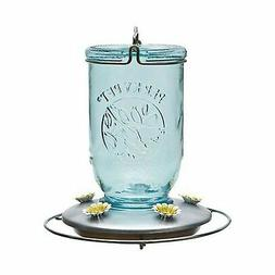 2 Perky Pet Glass Mason Jar 32 Ounce Hummingbird Nectar Feed