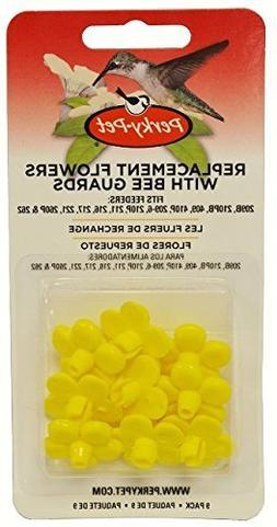 Perky-Pet 202FB 9 Piece Yellow Hummingbird Feeder Replacemen