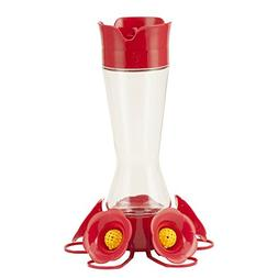 Perky-Pet 204CP-4 Favored Glass Hummingbird Feeder with Buil