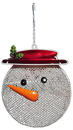 Evergreen Flag & Garden 2BF269 Snowman Suet/Seed Cake Decora