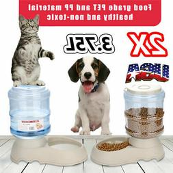 2X Automatic Pet Feeder Dog Cat Self-Dispensing Animal Food