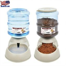 3.75L Pet Dog Cat Automatic Dispenser Feeder Bowl Bottle Foo