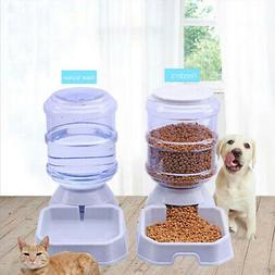 3.8L Large Automatic Pet Food Drink Dispenser Dog Cat Feeder