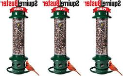 3- Pack Brome Squirrel Buster Plus Bird Feeder w/ Cardinal P