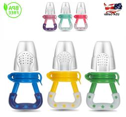 US Baby Feeding Pacifier Fresh Food Feeder Fruits,