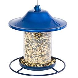 PERKY PET 312B SPARKLE PANORAMA BIRD FEEDER, BLUE