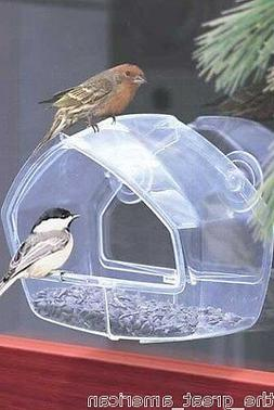 Perky Pet 348 WINDOW BIRD FEEDER Holds ANY Type of Seed Clea