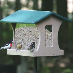 4 Gallon 4-Sided Recycled Hopper Bird Feeder