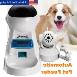 4L Automatic Pet Feeder for Cats and Dogs Smartphone App Wif