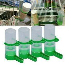 4PCS M/L Plastic Pet Bird Drinker Feeder Water Bottle Cup Fo