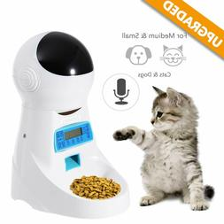 5-195g Automatic Pet Feeder Dog Cat Programmable Animal Food