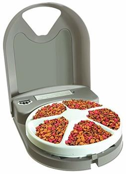 5-Meal Automatic Pet Dog and Cat Feeder, Dispenses Pet Food