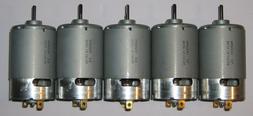 5 X Mabuchi 555 12 VDC Deer Feeder Motor - Large 4500 RPM Ho