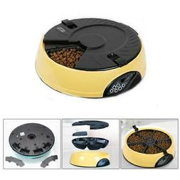 6 Meal Automatic Pet Feeder Auto Dog Cat Food Bowl Dispenser
