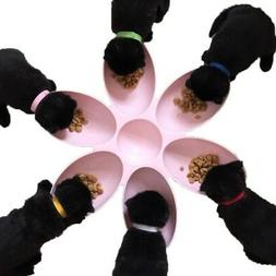 6 in 1 Cats Dogs Bowls 6 Petal Shape Water Food Feeder Plate