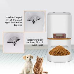 6L Automatic Pet Feeder Food Dispenser For Cats Dogs Timer P