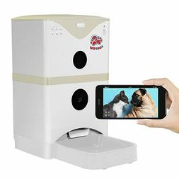 6L Cat Dog Pet Smart Automatic Feeder, WiFi Camera 2Way Spea