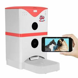 FUNPAW 6L WiFi Automatic Cat Dog Pet Feeder w/ Camera Speake