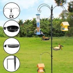 Bird Seed Feeder Pole Wild Bath Squirrel Station Hanging Gar