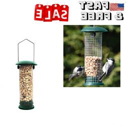 "9.5"" Hanging Bird Feeder Tube Feeder Food Garden Wild Bird F"