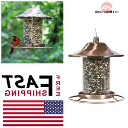 Bird Feeder Panorama, Pet Perky, Copper Small Wild,Tray Styl