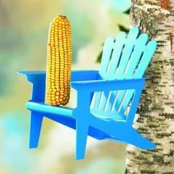 Adirondack Chair Squirrel Feeder Blue