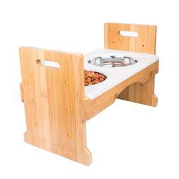 PandPal Adjustable Raised Dog Bowls, Waterproof Elevated Dog