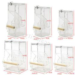 Auto Clear Acrylic Cage Food Feeder Single/Double Hopper For