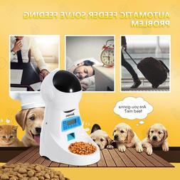 Homdox Automatic Cat Feeder Pet Food Dispenser for Cat Dog,