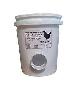 """""""NO   WASTE""""    Automatic Chicken Hanging Gravity Feeder 5 G"""