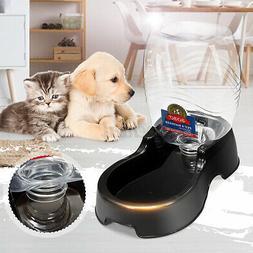 Automatic Dog Cat Pet Feeder Dispenser Food Water Self Feedi