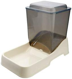 Automatic Dog Feeder Gravity Food Dispenser Tray 10 Lbs Larg