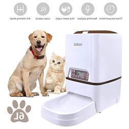 Automatic Dog Feeder Iseebiz 6 Liter Automatic Pet Feeder wi