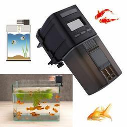 Automatic Fish Feeder LCD Aquarium Food Dispenser Feeding Ti