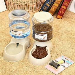Mingzheng Automatic Gravity Cat Food and Water Feeder with S