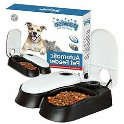 Automatic Pet Feeder Dog Cat 1.5 Cup Food Dispenser Station