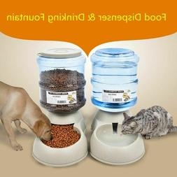 Automatic Pet Feeder Drinking Water Fountains for Cats and D