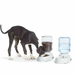 automatic pet food and water dispenser for large dogs cat do