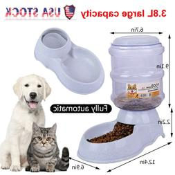 Automatic Pet Food Dispenser Dog Cat Animal Gravity Feeder W