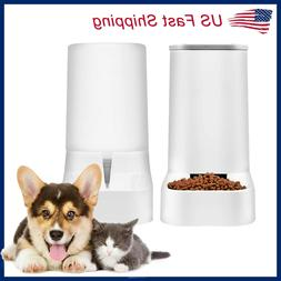 Automatic Pet Food Water Dispenser Dog Cat Feeder Waterer Au